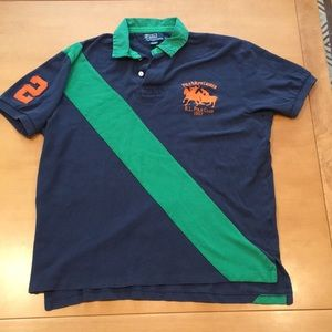Polo by Ralph Lauren green and navy shirt
